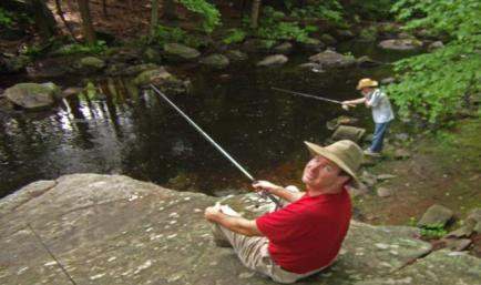 Men fishing